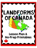 Landform Regions of Canada Lesson