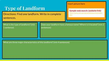 Landform  Research Report WITH Sample Links!!!