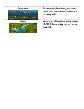 Landform Riddgles
