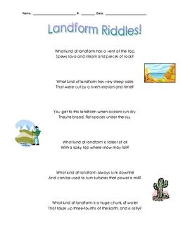 Landform Riddles