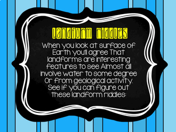 Landform Riddles Powerpoint