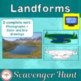Landforms Scavenger Hunt + Free BOOM Cards