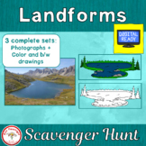 Landforms Scavenger Hunt + Free BOOM Cards