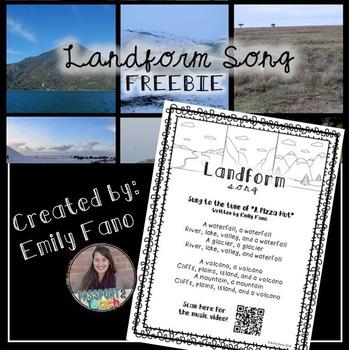 Landform Song FREEBIE