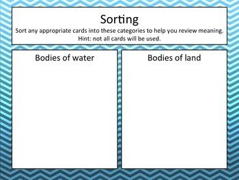 Landform Sort and Map Practice - Hands On!