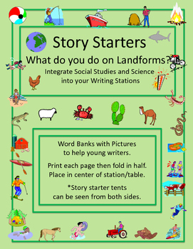 Landform Story Starters Grades 1 - 3