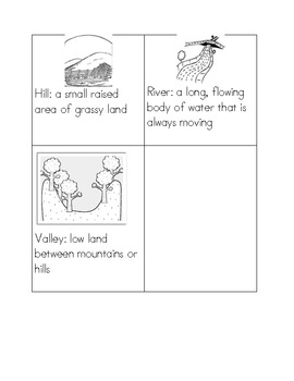 Landform Study Guide with Flashcards