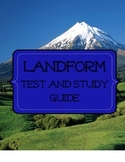 Landform Test and Study Guide