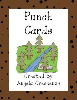Landform Themed Punch Cards