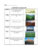 Landform Vocabulary