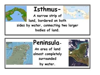 Landform Vocabulary Cards