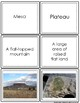 Landform Vocabulary Cards