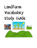 Landform Vocabulary Fill in the Blank