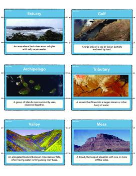 Landform Vocabulary Matching Cards- STEM Geography Activity!