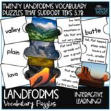 Landform Vocabulary Matching Puzzles