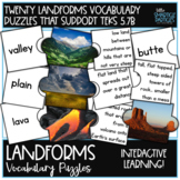 Landform Vocabulary Matching Puzzles