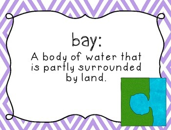 Landforms Vocabulary Posters {Word Wall Printable}