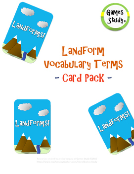 Landform Vocabulary Terms Card Pack