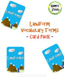 Landform Vocabulary Terms Card Pack