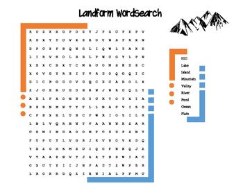 Landform WordSearch