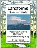 Landform Word Wall Cards Free Samples