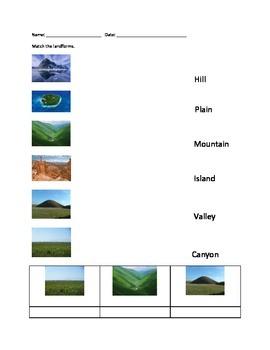Landform Worksheet Set