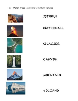 Landform Worksheets 2