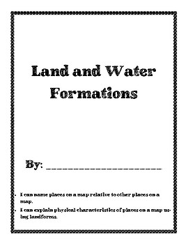 Landform and Bodies of Water Book