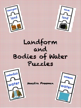Landform and Bodies of Water Puzzles