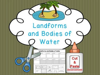 Landform and Body of Water FREE Cut and Paste Match