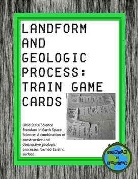 Landform and Geologic Process; Train Game Cards