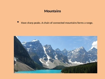 Landform and Waterway Powerpoint/ slideshow