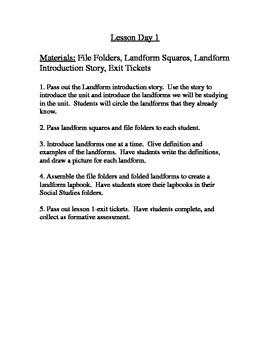 Landform mini-unit: Ohio Model Curriculum