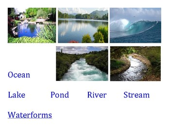 Landform or water form--sort and match game