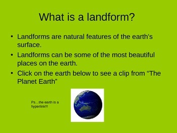 Landforms!