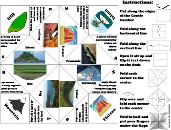Landforms and Bodies of Water Game (Geology Unit)