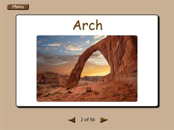 Interactive Landforms Flashcards
