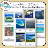Landforms 2 Cards - Coastal & Oceanic Landforms
