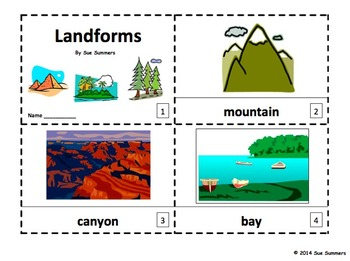 Landforms - 2 Emergent Reader Booklets
