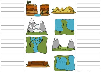 Landforms and Bodies of Water Interactive Notebook Activity (Geology Unit)