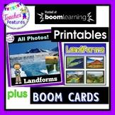 BOOM CARDS DIGITAL | LANDFORMS | Geography Landforms | POWERPOINT & PRINTABLES