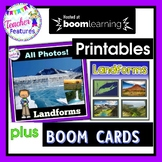 Boom Cards Social Studies GEOGRAPHY LANDFORMS + Powerpoint