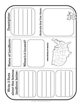 Landforms Organizers