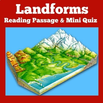 Landforms Activity | Types of Landforms Reading Passage