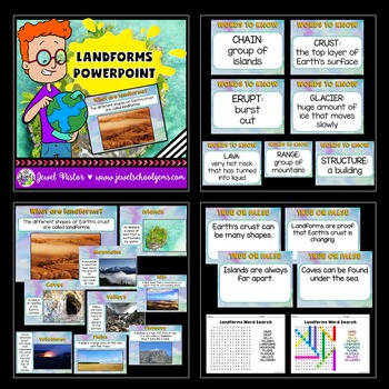 Landforms Activities BUNDLE (PowerPoint and Flipbook)