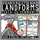 Geography Landforms Research Project Teach- Go Pennants™- Landforms Worksheets