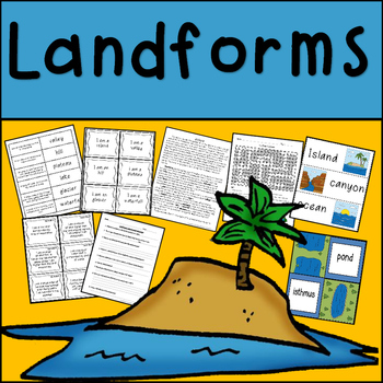 Landforms Reading Passage, Vocabulary Cards and Activities