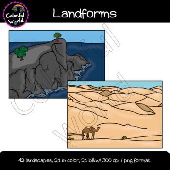 Landforms clipart