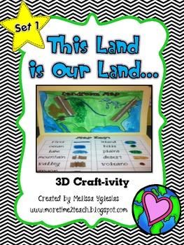 Landforms: 3D Craft-ivity