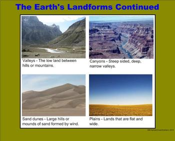 Landforms - A Third Grade PowerPoint Introduction